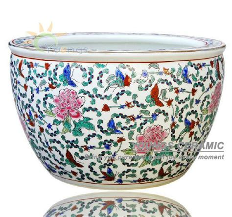 sale large chinease famille rose ceramic plant pots for
