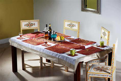 Dining Table Runners Shop Indian Silk Dining Table Runner Dining Table Linen Dining Table Plate Mat Dining