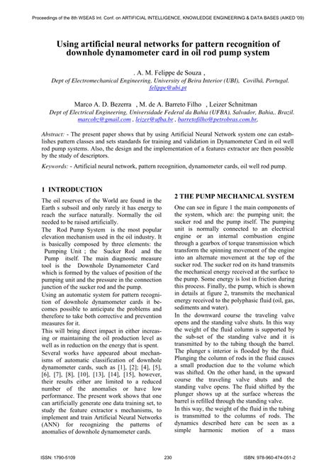 design principles of pattern recognition system in artificial intelligence pattern recognition for downhole dynamometer card in oil