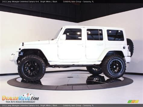White And Black Jeep Wrangler 2011 Jeep Wrangler Unlimited 4x4 Bright White