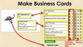 how to create business cards create business cards on the fly free pdf cards