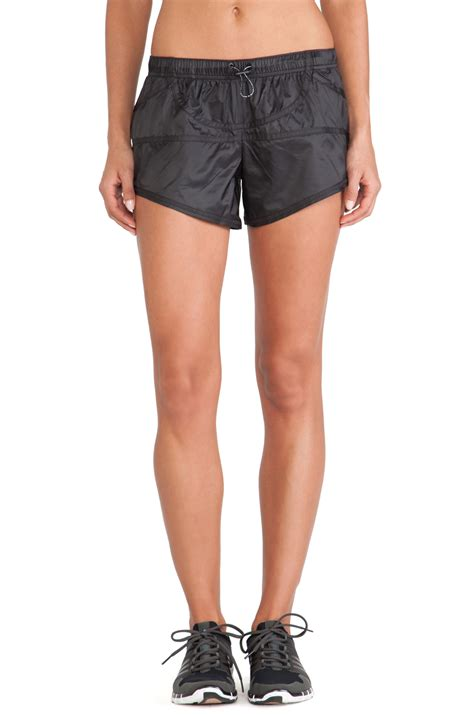 Adidas Stella Mc Cartney Running Shorts 1 adidas by stella mccartney woven running shorts in black lyst