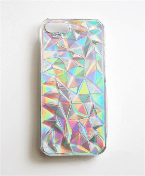m iphone iphone 5 5s holographic hologram iridescent 3d triangle cover h m ebay