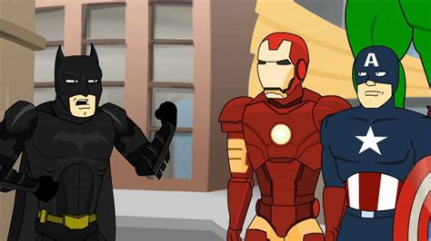 dark knight meets avengers youtube