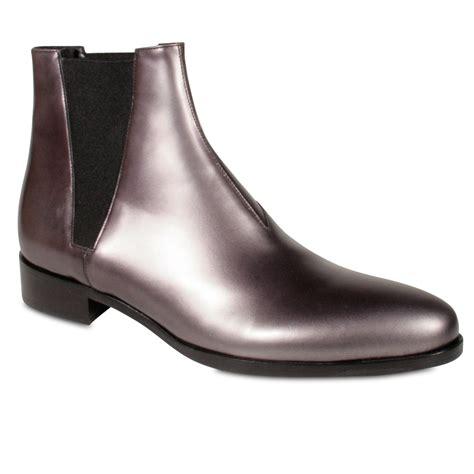 prada boots for metallic silver black pressed