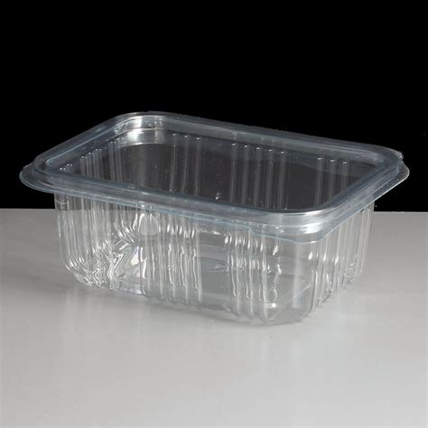 thermos containers 250cc clear hinged salad container