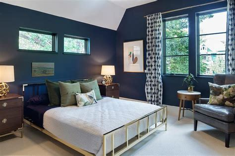 Brass Bed with Campaign Nightstands - Contemporary - Bedroom Wood Wallpaper Bedroom