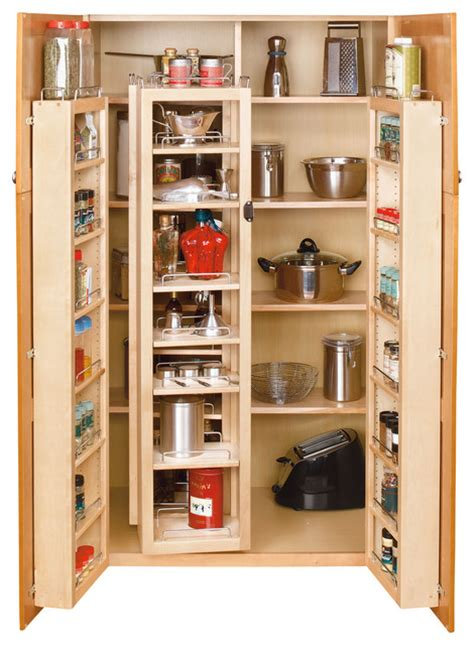 Kitchen Cabinet Organizing Systems Rev A Shelf Swing Out Pantry System 45 Quot Traditional Pantry And Cabinet Organizers