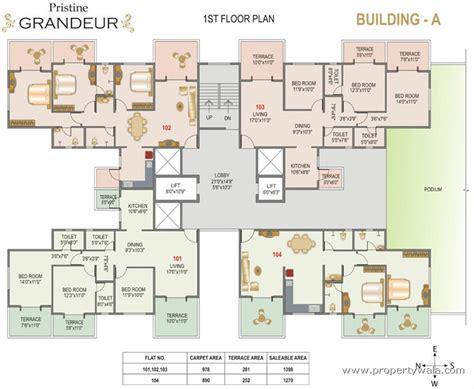 grandeur 8 floor plan pristine grandeur wakad pune residential project