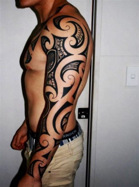 tribal tattoo half sleeve cost 40 tribal sleeve tattoos tattoofanblog