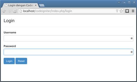 membuat login dengan codeigniter membuat login sederhana di codeigniter 3 171 jaranguda com