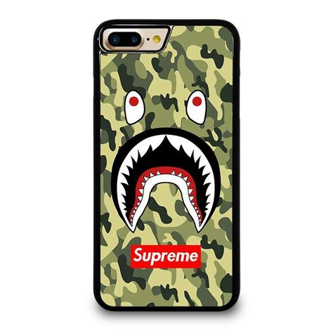 Iphone X Supreme Bape Shark Camo Pattern Cyan Hardcase bape bathing camo shark supreme iphone 4 4s 5 5s se 5c 6 6s 7 8 plus x cover favocase