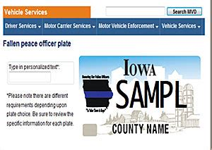 dot now offering fallen peace officer license plates