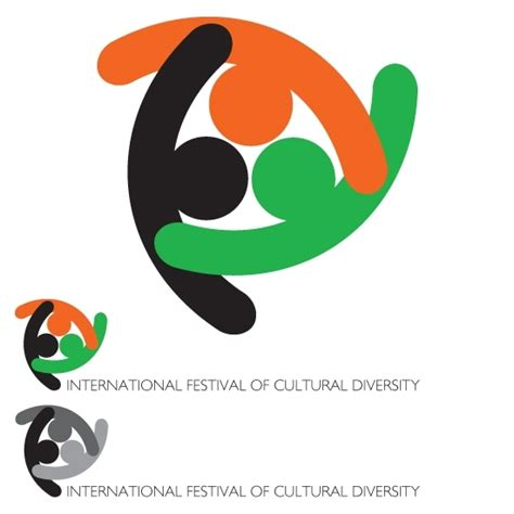 Unity In Diversityby Marsuser This Logo Represents A Design Consisting Of Three Symbolic Persons Unity Logo Communication Logo