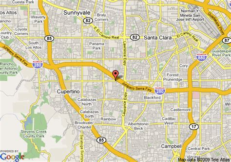 santa clara california map map of woodcrest hotel santa clara