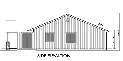side view house plans one level duplex house plans ranch duplex house plans