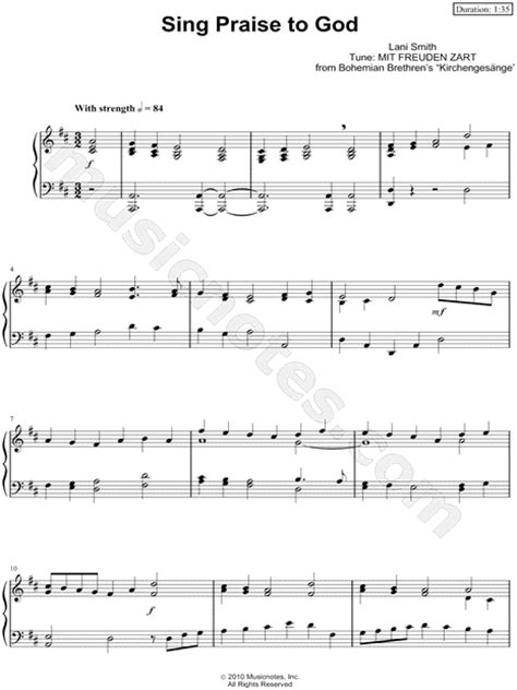 printable lyrics every praise is to our god anonymous quot sing praise to god quot sheet music piano solo in
