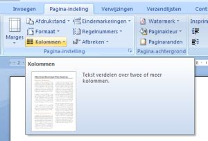 kranten layout word kolommen in een document informaticalessen