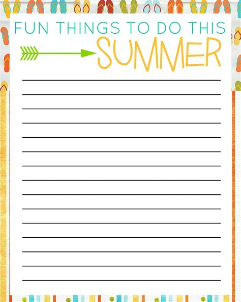printable list of free things to do in las vegas 50 things to do this summer with free printable bucket