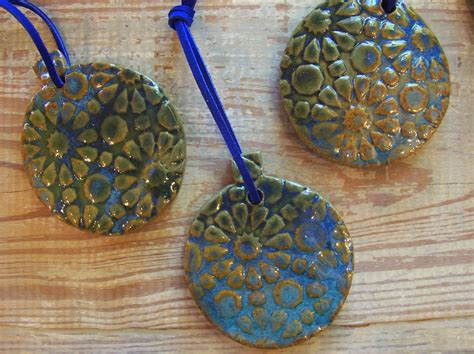 Handmade Clay Ornaments - handmade pottery ornaments bess pottery