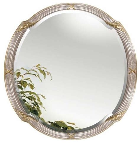 Satin Nickel Bathroom Mirror Alno Creations Satin Nickel Gold Mirror 2204 172 Traditional Bathroom Mirrors By Knobdeco