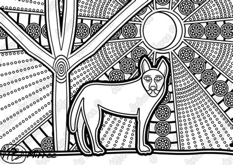 Animal Aboriginal Colouring Pages Christmas Colouring Aboriginal Animal Colouring Pages