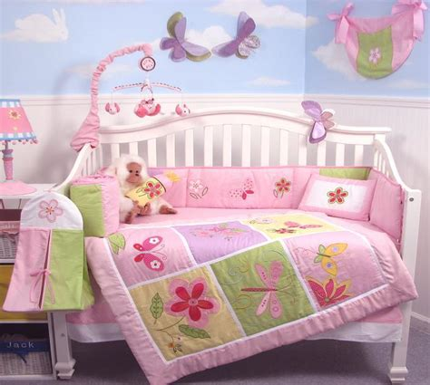 Soho Butterflies Meadows Baby Crib Nursery Bedding Set 13 Soho Crib Bedding Set