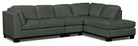 Grey Microsuede Sectional by Oakdale 3 Microsuede Right Facing Sectional Grey