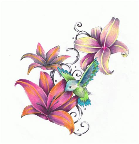 humming bird flower by daelin reid on deviantart