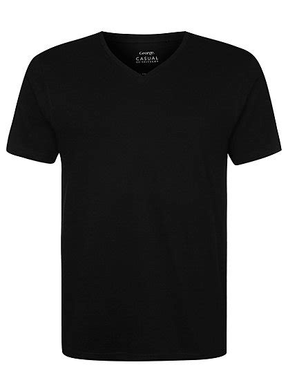 T Shirt You Got This Black v neck t shirt black george at asda