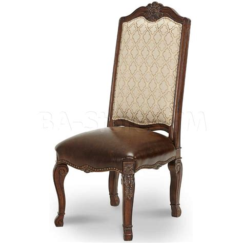 Fabric For Dining Chair Seats Palace Fabric Back Side Chair With Leather Seat Dining Chairs 61033 29 0