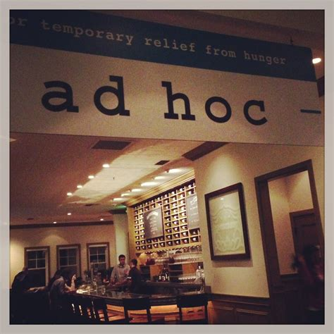 ad hoc restaurant dishes