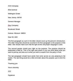 Business Letters In Free Business Letter Format 9 Free Sles Exles Format