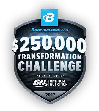 bodybuilding challenge 250 000 transformation challenge presented by optimum