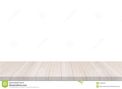 top fancy white and wood perspective white wood table top isolate on white