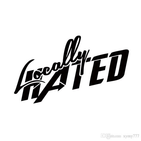 Window Decals Jdm by 2018 Car Styling For Locally Hated Decal Jdm Vinyl Race