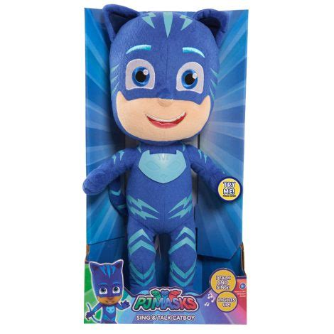Pj Masks Sing And Talk Plush Gekko pj masks sing and talk plush catboy just play toys for of all ages