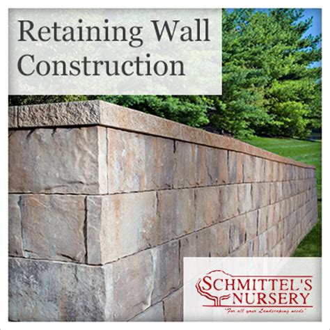 importance of retaining wall construction by schmittel s