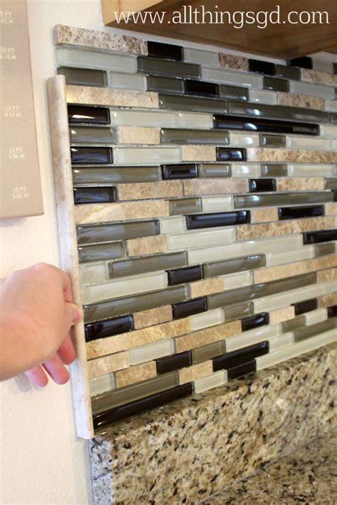 i decided to finish the edge of our tile backsplash