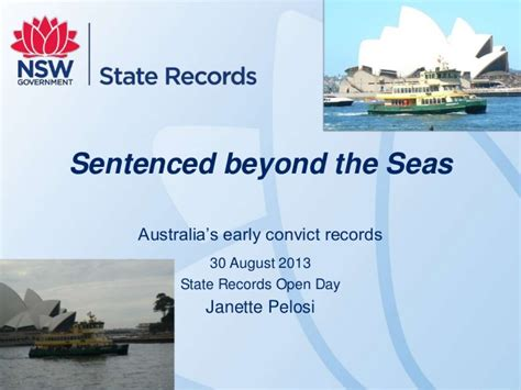 Convict Records Sentenced Beyond The Seas Australia S Earliest Convict Records