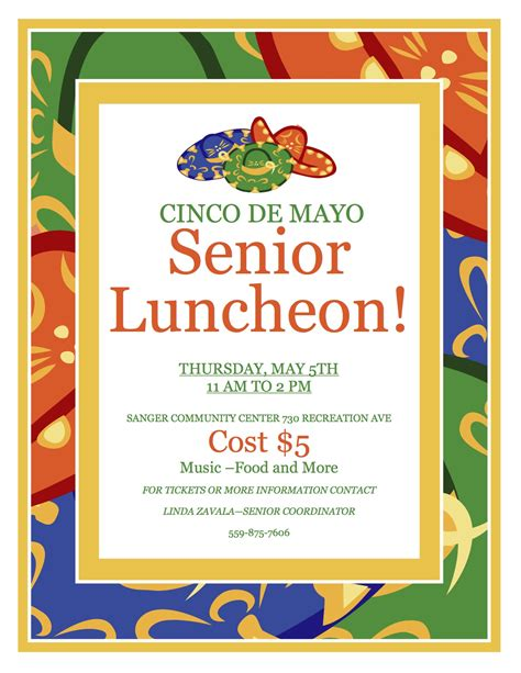 cinco de mayo senior luncheon the sanger scene