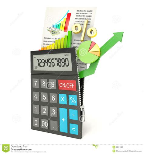 calculator open open calculator white background 3d stock illustration