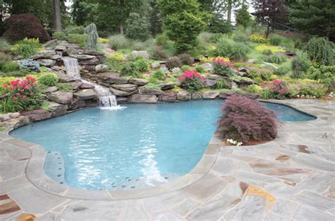 backyard with pool landscaping ideas eye catching and cool ideas of pool design for backyard
