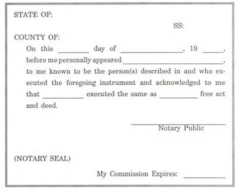 notary section sle of acknowledgement page for a dissertation
