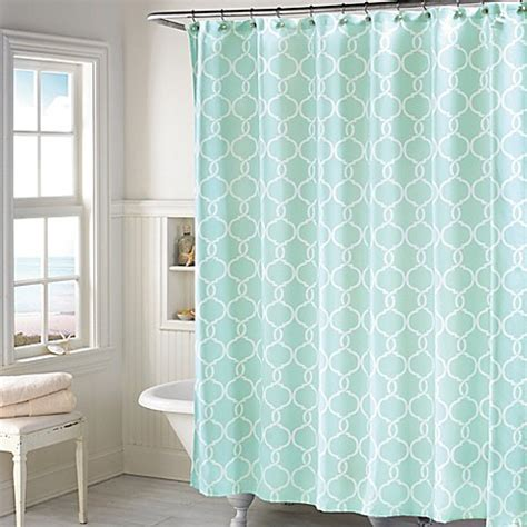 langley shower curtain in mint bed bath amp beyond