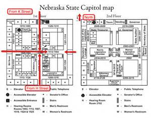 state capitol map maps of the state capitol and downtown lincoln parking