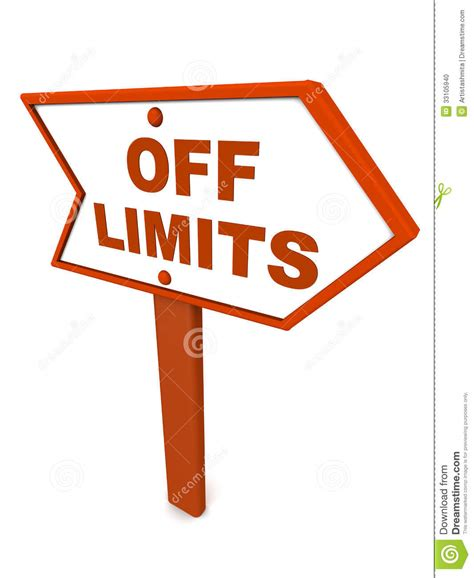 section off off limits or out of scope stock illustration
