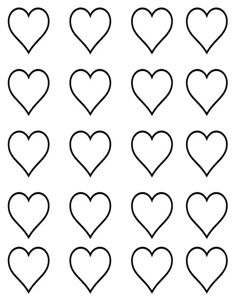 heart template printable free search results calendar 2015