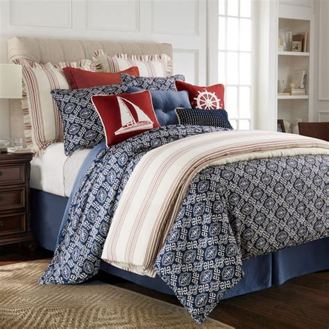 marine bedding delectably yours com monterrey navy blue and white duvet
