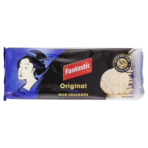 Fantastic Rice Crackers fantastic rice cracker original 100g harris farm markets